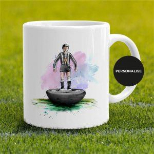 Newcastle United - Retro Subbuteo, personalised Mug