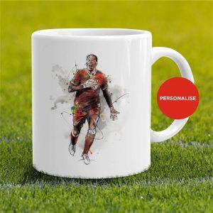 Liverpool - Virgil Van Dijk, personalised Mug
