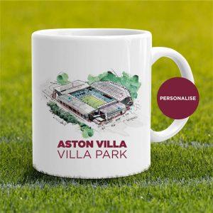 Aston Villa - Villa Park, personalised Mug