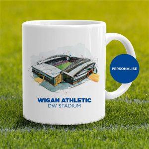 Wigan Athletic - DW Stadium, personalised Mug