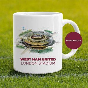 West Ham United - London Stadium, personalised Mug