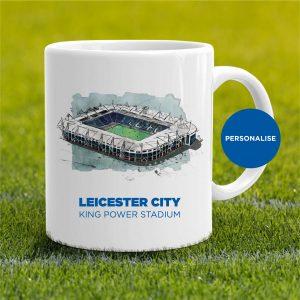 Leicester City - King Power Stadium, personalised Mug