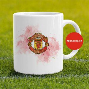 Manchester United - Badge, personalised Mug