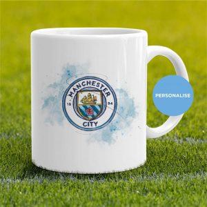 Manchester City - badge, personalised Mug