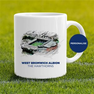 West Bromwich Albion - The Hawthorns, personalised Mug