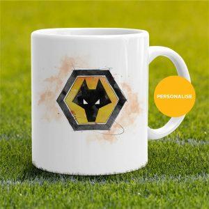 Wolverhampton Wanderers - Badge, personalised Mug