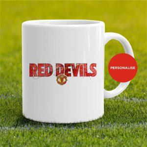 Manchester United - Red Devils, personalised Mug