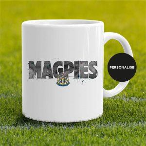 Newcastle United - Magpies, personalised Mug