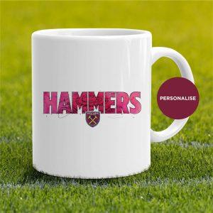 West Ham United - Hammers, personalised Mug