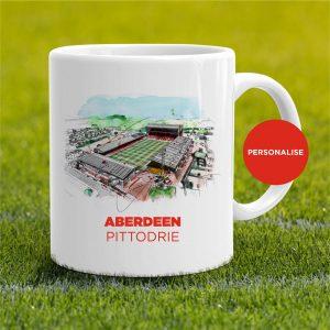 Aberdeen - Pittodrie, personalised Mug
