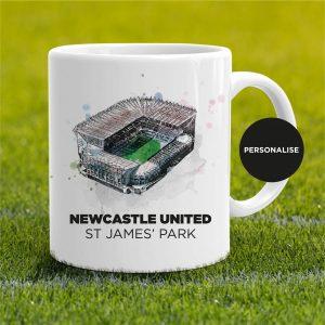 Newcastle United - St James' Park, personalised Mug