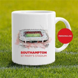 Southampton - St Mary's Stadium, personalised Mug