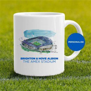 Brighton - Amex Stadium, personalised Mug