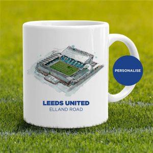 Leeds United - Elland Road, personalised Mug