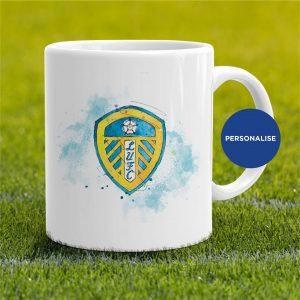 Leeds United - badge, personalised Mug