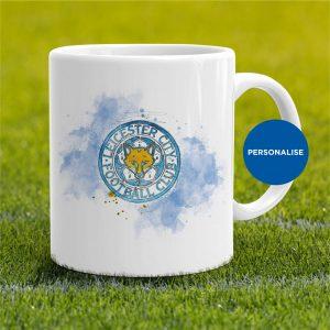 Leicester City - Badge, personalised Mug