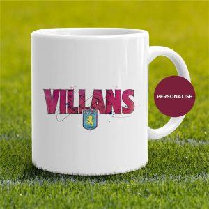 Aston Villa - Villans, personalised Mug