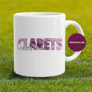Burnley - Clarets, personalised Mug