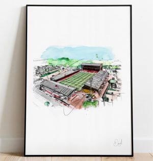 Aberdeen FC - Pittodrie stadium art print
