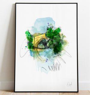 Aberdeen - Brig 'o' Balgownie art print