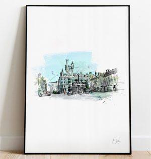 Aberdeen - Castlegate art print