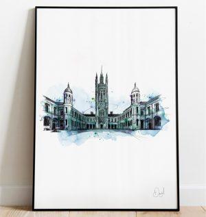 Aberdeen - Marischal College art print