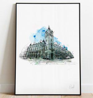 Aberdeen - Town House art print